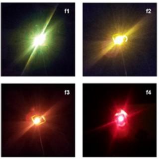 연구팀이 표면을 개질한 탄소 양자점으로 여러 빛깔을 내도록 했다. - 포스텍 제공